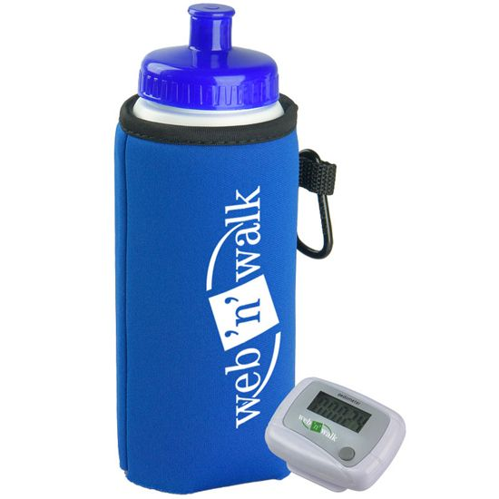 PEDBC16 - Walking Kit - Pedometer with Bottle and Holder