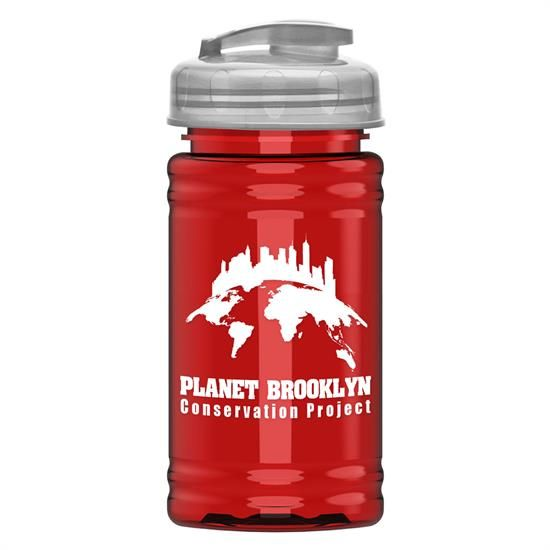 RP16U - UpCycle - Mini 16 oz. rPet Sports Bottle with USA Flip Lid