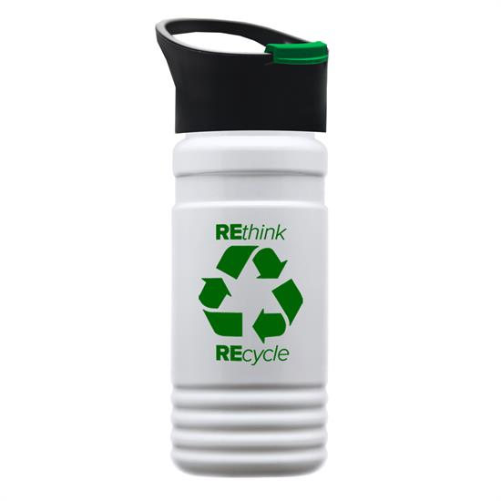 RP20P - 20 oz. UpCycle rPET Bottle With Pop Up Sip Lid