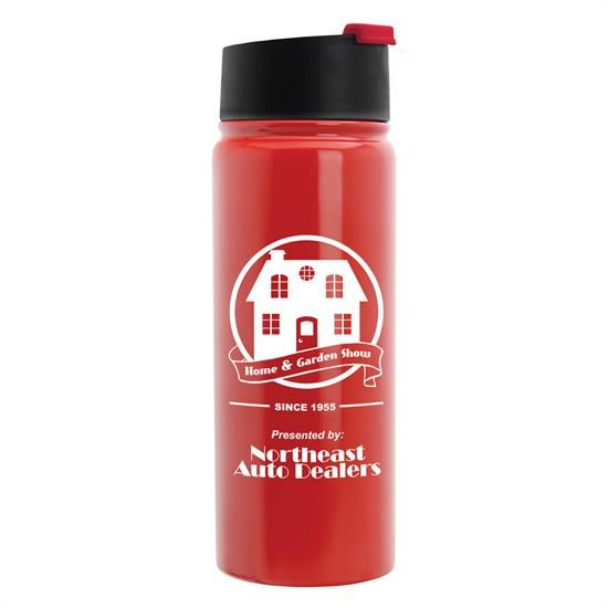 ST19F - Cilindro Flip - 19 oz. Stainless Steel Vacuum Bottle