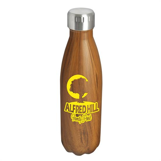 ST4W - Kula - 17 oz. Woodtone Stainless Steel Bottle