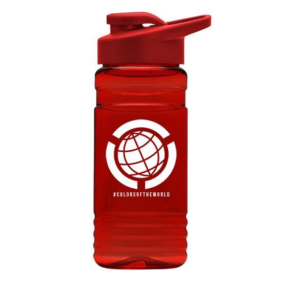TB20D - The Big Grip 20 oz. PETE Bottle with Drink-Thru Lid