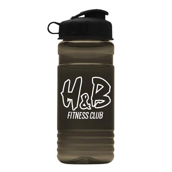 TB20F - The Big Grip 20 oz. PETE Bottle with Flip Top Lid