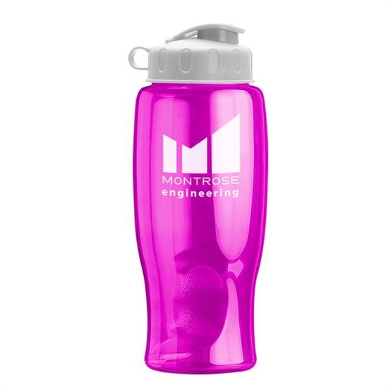 TB27F - Poly-Pure - 27 oz. Transparent Bottle - Flip Lid
