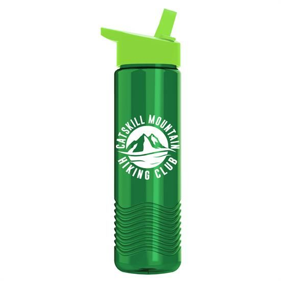 TRB24H - 24 oz Tritan Wave Bottle with Flip Straw Lid