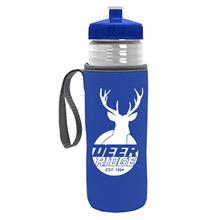 The Lifeguard - 24 oz PETE Bottle w Push Pull Lid and Caddy