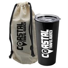 Explorer Tumbler - 18 oz. Tumbler with Slide-Lid in a Reusable Cotton Bag