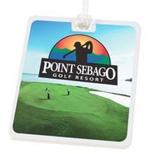 Rectangle Golf Tag - 4c Digital Imprint
