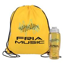 Bottle in a Drawstring Backpack Combo Kit