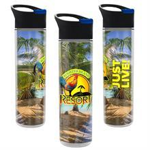 Full Color Wrap 16 oz. Insulated Bottle with Pop up Sip Lid