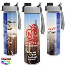 Full Color Wrap 16 oz. Insulated Bottle with Quick Snap Lid