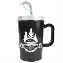 22 oz Insulated Mug with Straw
