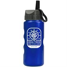Mini Peak - 22 oz. Metalike Bottle -Flip Straw Lid
