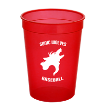 Cups-On-The-Go - 12oz. Trans. Stadium Cup