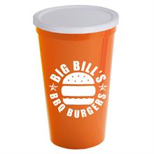22 oz. Stadium Cup with No Hole Lid