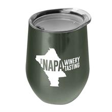 The Vino - 10 oz. Stainless Steel Stemless Wine Glass Shaped Tumbler