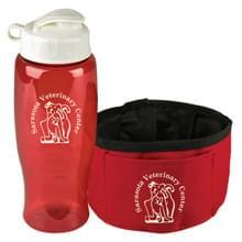 Thirsty Dog - Sports Bottle & Folding Dog Bowl