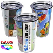 14 oz. Transparent Tumbler with Digital Insert